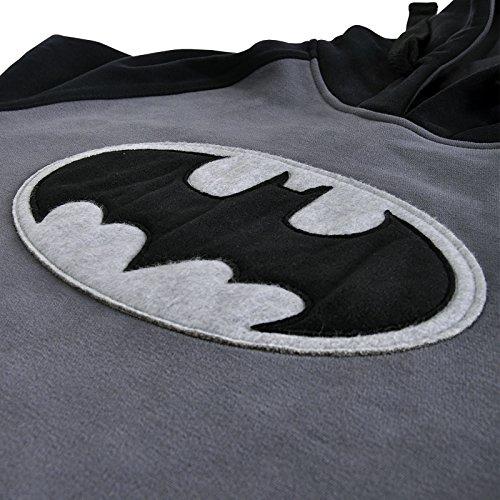 Grigio Multicolore Con Uomo Cappuccio Comics Pullover BatmanFelpa Logo Dc Nero Elbenwald DH9E2I