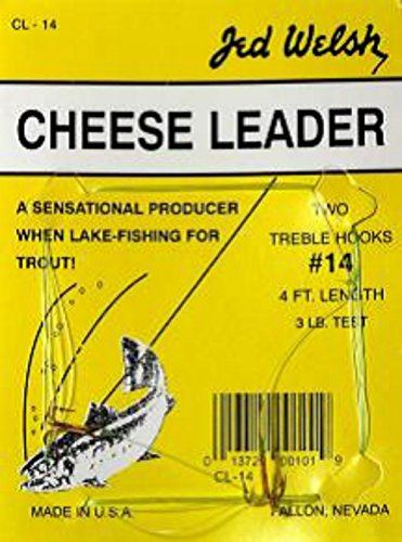 Jed Welsh Fishing Cheese Leader Hook, 18