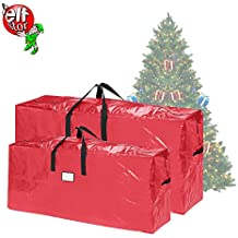 Elf Stor | Christmas Tree Bags | Large For up to 7.5 Ft Trees and Extra Large For up to 9 Ft Trees | 2-Pack | Red