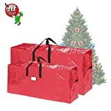 Elf Stor 83-DT5525 Christmas Bags 7.5 Extra Large for up to 9 Ft Trees | 2-Pack | Red