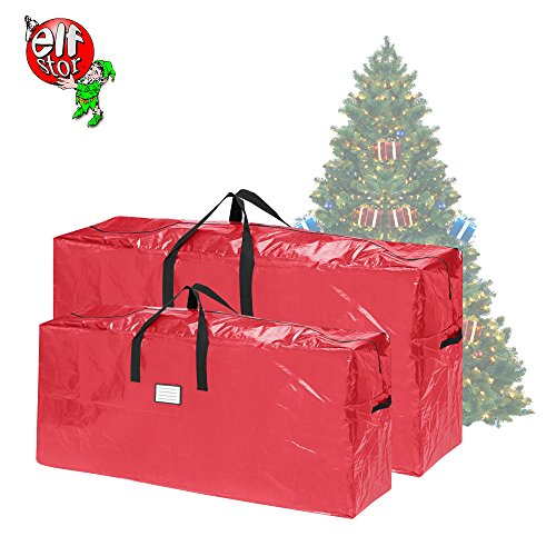 Elf Stor 83-DT5525 Christmas Bags Redarge for 7.5 Extra Large for up to 9 Ft Trees | 2-Pack | Red