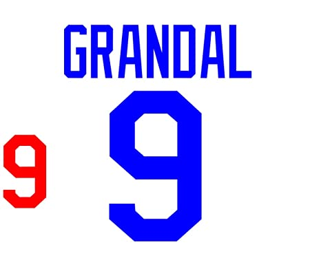 Yasmani Grandal Los Angeles Dodgers Jersey Number Kit Authentic