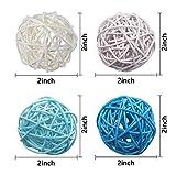 DomeStar Rattan Ball, 24PCS 2 Inch Wicker Ball