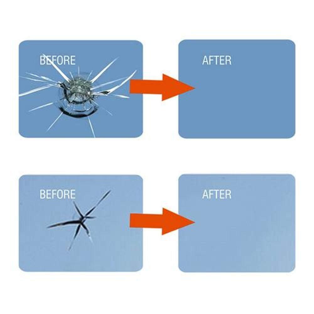 atteryhui Kfz Glas Nano Reparaturfl/üssigkeit Repair Tool Kit Autofenster Glas Riss Chip Harz Windschutzscheibe Reparatur DIY Tool Kit