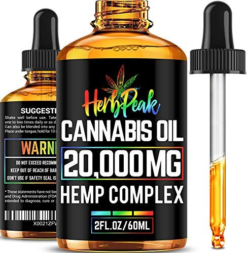 - Hemp Oil for Stress & Anxiety Relief - 20000MG - Premium Hemp Complex - Made in USA - Anti Inflammatory & Immune Support - 100% Natural & Safe - Better Sleep & Mood - Ideal Omega 3, 6 & 9 Source