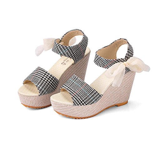 kaifongfu Sandals,Clearance! Casual Women's Shoes Sandals Wedge Heels Summer High Platform Fish Mouth Shoes (36❤️US:5.5, ()