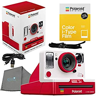 Polaroid OneStep 2 Viewfinder i-Type Camera, Red Bundle with a Color i-Type Film Pack (8 Instant Photos) and a Lumintrail Cleaning Cloth