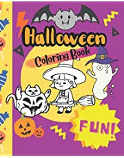 Halloween Coloring Book: Halloween coloring book with cute pages for kids