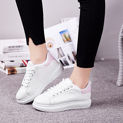 zu Um und Baumwollschuhen Sie Schüler Vergrößern Schuhe Rosa Winterschuhe Damenschuhe die Warmweiße Dicken DXD Hinzu mit Der Fügen 8qwgxvI5nZ