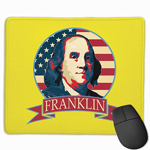 Ben - Jamin Frank - in American Banner Gaming Mouse Pad Mat, Stitched Edges, Waterproof, Ultra Thick 3mm, Wide & Long Mouse Pad 25x30