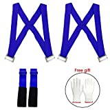 2018 Moving Straps(Sangles mobiles) 2 person Furniture Teamstrap Lifting System with Shoulder Harnesses,Feel Lighter Over 50% ,Upto 800LBS Appliances ,Flexible Sections Lifting Straps With Bonus Slip-Proof Gloves By Stwie