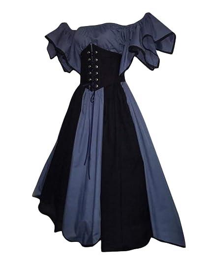DianShaoA Vestido Victoriano Retro del Renacimiento De Las ...