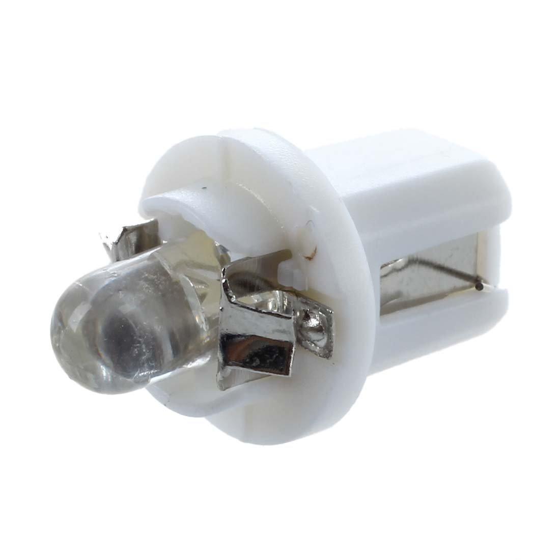 Dashboard Luce - TOOGOO(R) 10x T5 Lampadina a LED Bianco Luce Gauge Luce Meter Dashboard B8-5D auto si illumina 12V 6000K-6500K SHOMAT11060