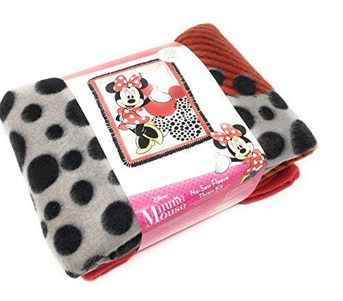 Disney Minnie Mouse No-Sew Fleece Throw Kit Fleece Tie Throw