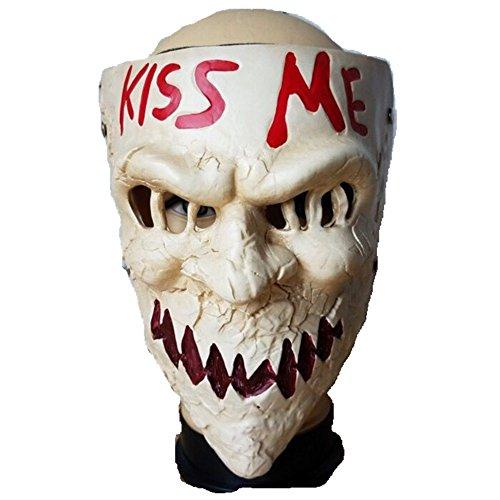 Joyfunny KISS ME Mask Movie Version Mask Horror Killer Helmet Halloween Cosplay -