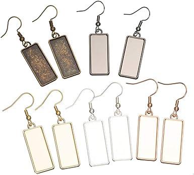 Silver cabochon earrings
