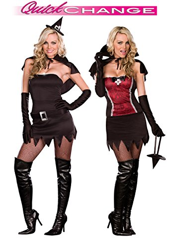 Quick Change Costume Magic - Dreamgirl From Witching Hour to Vampire Power Quick Change Adult Costume-Large