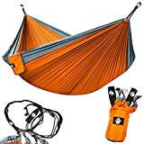 Legit-Camping-Double-Hammock-Lightweight-Parachute-Portable-Hammocks-for-Hiking-Travel-Backpacking-Beach-Yard--Gear-Includes-Nylon-Straps-Steel-Carabiners