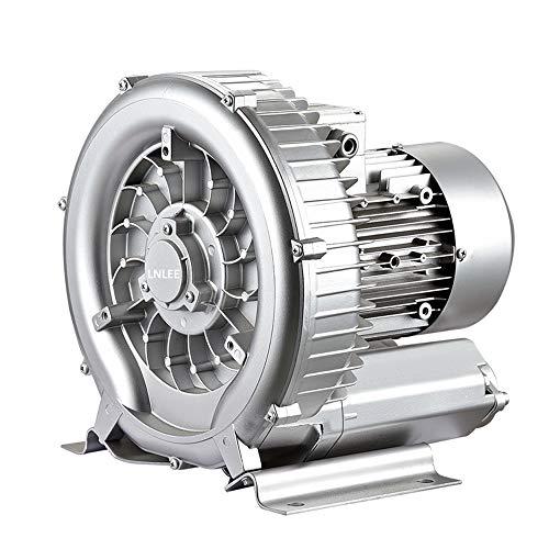 LNLEE Fish Pond Ring Blower for Aquirum, Regenerative Air Pump, Vortex Gas Pump, Side Channel Blower, Sewage Aeration (Aluminum, LN550W-110V)