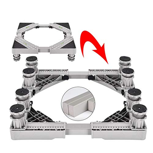 Universal Adjustable Base For Washer And Dryer, Multi-Functional Square Aluminum Alloy Furniture Stands Heavy Duty, Furniture Standing Shelf (Size : 8 feet)