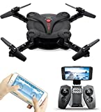 go pro 3 direction book - AICase FQ17W WIFI FPV Foldable Pocket Mini Drone With 0.3MP Camera Altitude Hold Mode RC Quacopter Helicopter RTF with Remote Control - Black