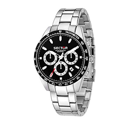 SECTOR Men's '245' Quartz Stainless Steel Sport Watch, Color Silver-Toned (Model: R3273786004)