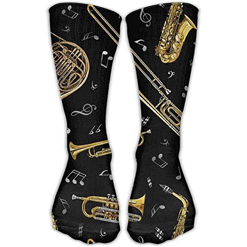 Men&Women's Trumpet Trombone French Horn Fashion Crew Sock Athletic Ankle Dress Sock 50cm