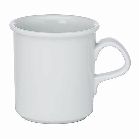 Amazon.com: Dansk Cafe Blanc Blanco Porcelana 12 onza taza ...