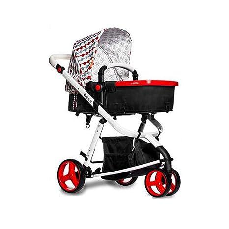 Ambiguity Sillas de Paseo,El Cochecito de bebé Puede Sentarse y Doblar el Triciclo de