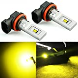 07 acura tl led yellow fog lights - JDM ASTAR 3000 Lumens Extremely Bright CSP Chips H11 H8 LED Fog Light Bulbs for DRL or Fog Lights, Gold Yellow