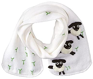 Kidorable Little Girls' Sheep Scarf White One Size Kidorable Children' s Apparel SCARF:SHEEP