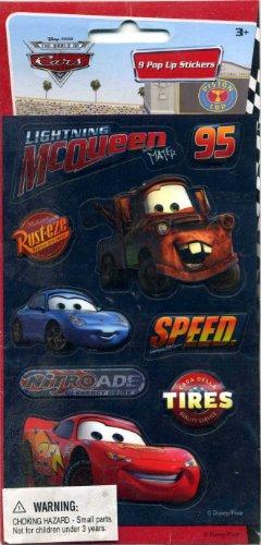 Disney Pixar The World of Cars 9 Pop Up Stickers