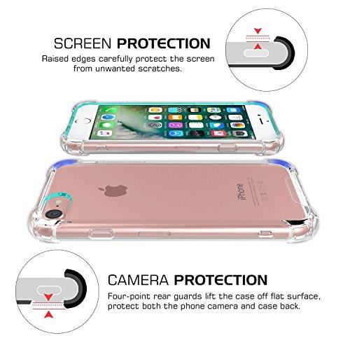 iPhone 7 Plus Hülle, JIAXIUFEN Schutzhülle HandyHülle Silikon UltraSlim Clear TPU Bumper Kratzfeste Tasche Durchsichtig Case Cover Silikonhülle für iPhone 7 Plus - Transparent Kristall