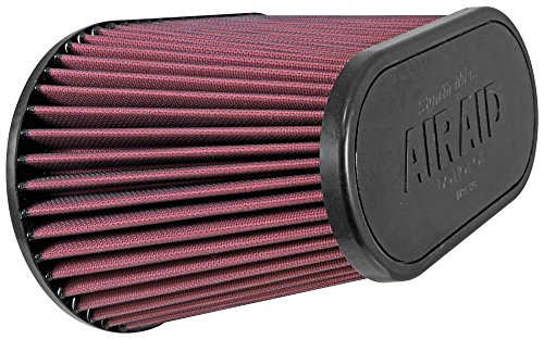 Airaid (AIR-720-128) Universal Clamp-On Air Filter: Oval Tapered; 4.5 in (114 mm) Flange ID; 7.375 in (187 mm) Height; 11.5 in x 7 in (292 mm x 178 mm) Base; 9 in x 4.5 in (229 mm x114 mm) Top