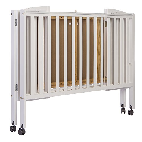 Dream On Me Full Size 2 in 1 Folding Stationary Side Crib, White by Dream On Me (Image #2)