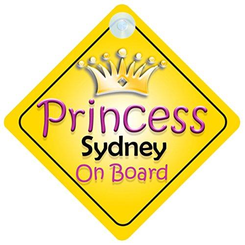 Princess Sydney On Board Girl Car Sign Child/Baby Gift/Present - Kids Sydney Store