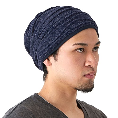 60e6f277e547b2 CHARM Organic Cotton Winter Hat - Mens Slouchy Oversized Beanie Womens  Chemo Cap