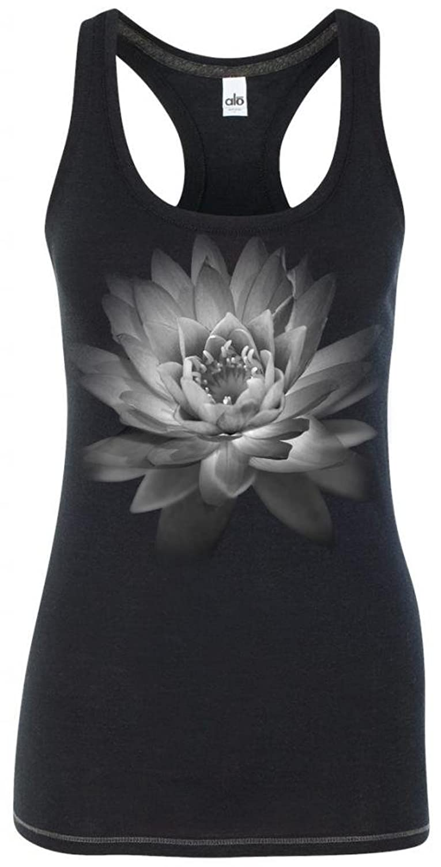 Yoga Clothing For You Ladies Lotus Flower Racerback Tank Top