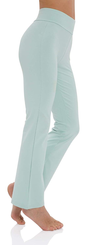 Small Light Green LazyCozy Womens Bamboo Cotton Yoga Long Pants