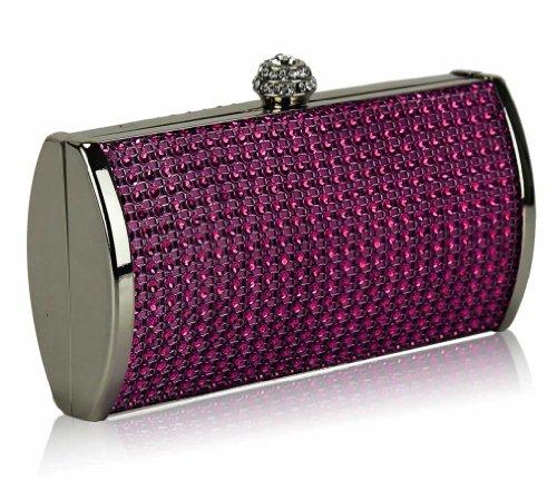 ANNA GRACE - Cartera de mano de Material Sintético para mujer Design 1 - Purple