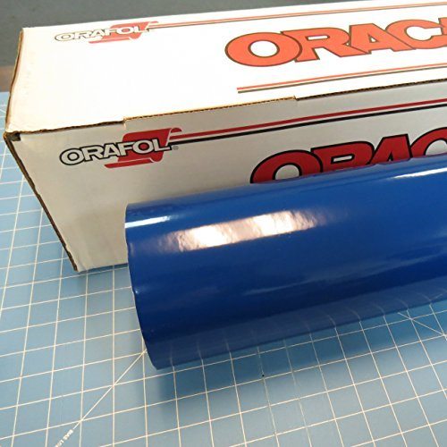 24'' x 50 Ft Roll of Oracal 651 Blue Vinyl for Craft Cutters and Vinyl Sign Cutters