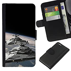 JackGot ( Star Destroyers ) Apple Iphone 5C la tarjeta de Crédito Slots PU Funda de cuero Monedero caso cubierta de piel