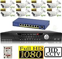 USG 1080P HD IP CCTV Kit: 1x 16 Channel NVR + 8x 1080P 3.6mm PoE IP Bullet Cameras + 1x 2TB HDD + 1x 9 Port PoE Switch *** High Definition CCTV Video Surveillance