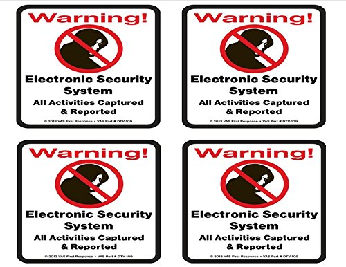(VIDEO | ALARM | SHOPTLIFTER | TRESPASS | SYSTEM WARNING SIGNS & DECALS | HOME | BUSINESS | LIVE & RECORDED INTERNET MONITORING | SURVEILLANCE | CCTV | COMERCIAL GRADE PLASTIC (DECAL-109ALARM))