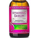 Pure Body Naturals Anti-Aging Vitamin C Facial Serum with Hyaluronic Acid & Vitamin E, 1 Fl. Oz.