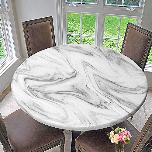 - PINAFORE HOME Round Table Tablecloth White Gray Marble Ink Acrylic Painted Waves Texture backgroundcan for Wedding Restaurant Party 50