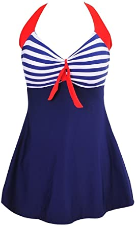 743c31034906e0 MUXILOVE Damen Neckholder Push up Tankini mit Hotpants Badeanzug  Schlankheits mit Röckchen Bademode Badekleid Bikini: Amazon.de: Bekleidung