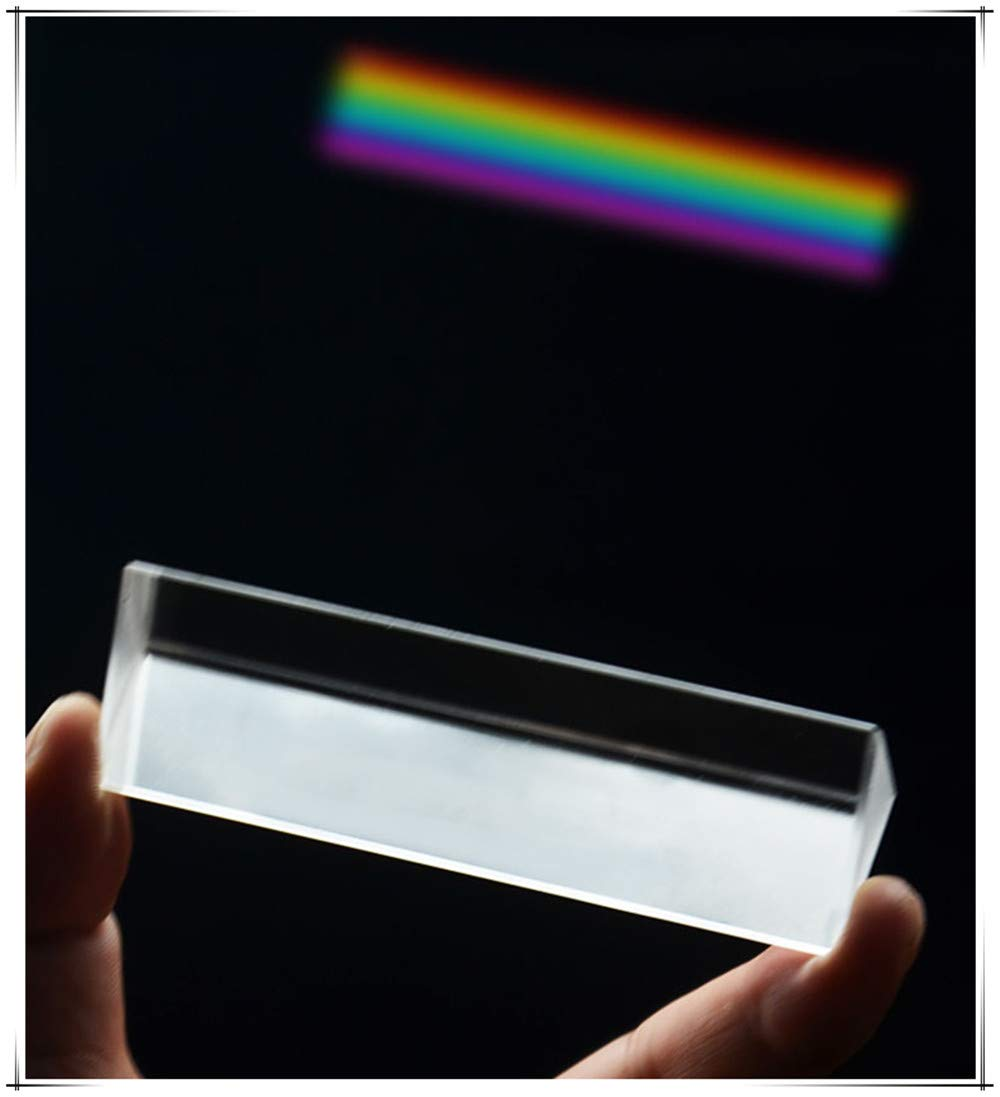200mm SDFSX Optical Glass Triangular Prism Multi Colors Spectrum Physics Science Teaching Light Spectrum Physics and Photo Photography Prism