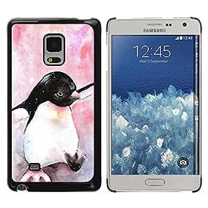 Be Good Phone Accessory // Dura Cáscara cubierta Protectora Caso Carcasa Funda de Protección para Samsung Galaxy Mega 5.8 9150 9152 // Watercolor Penguin Baby Bird Antarctic