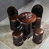 XSDA Vintage Bar Stool, Bar Chair, Oil Barrel